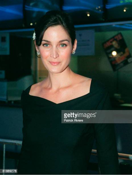April 1999 Actress Carrie Anne Moss attends the Australian Premiere of The Matrix in Sydney Australia