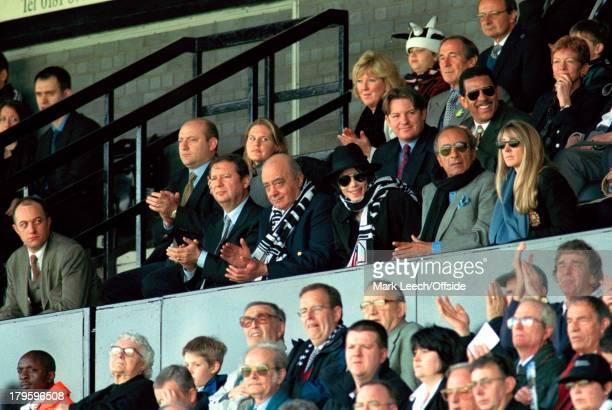 10 April 1999 Nationwide Football League Two Fulham v Wigan Athletic Michael Jackson visits Craven Cottage wearing his trademark hat and sunglasses...