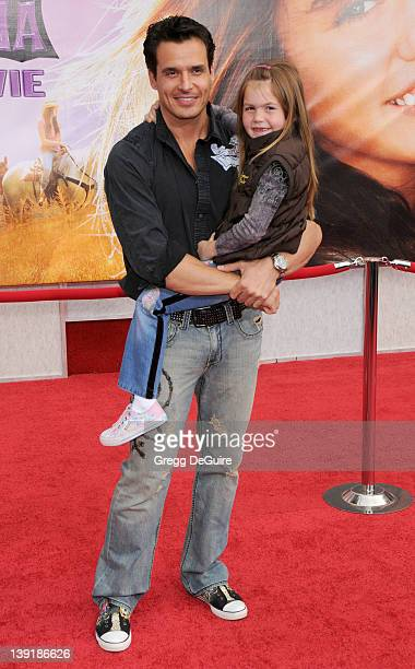 April 2 2009 Hollywood Ca Antonio Sabato Jr and daughter Mina 'Hannah Montana The Movie' Los Angeles Premiere Held at El Capitan Theatre