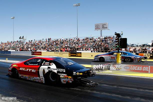 Erica EndersStevens Dodge Dart NHRA Pro Stock in action during the DENSO Spark Plugs NHRA Nationals at The Strip at Las Vegas Motor Speedway in Las...