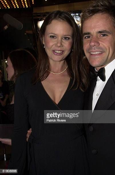 April 2000 Antonia Kidman and husband Angus Hawley at the TV Week Logies 2000 at the Crown Casino in Melbourne