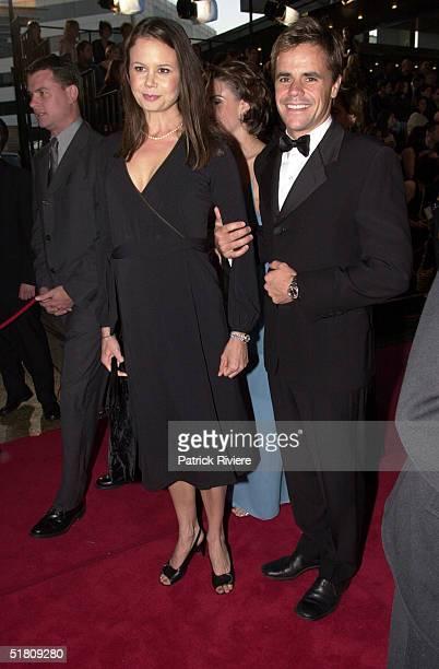April 2000 - Antonia Kidman + husband Angus Hawley at the TV Week Logies 2000 at the Crown Casino in Melbourne