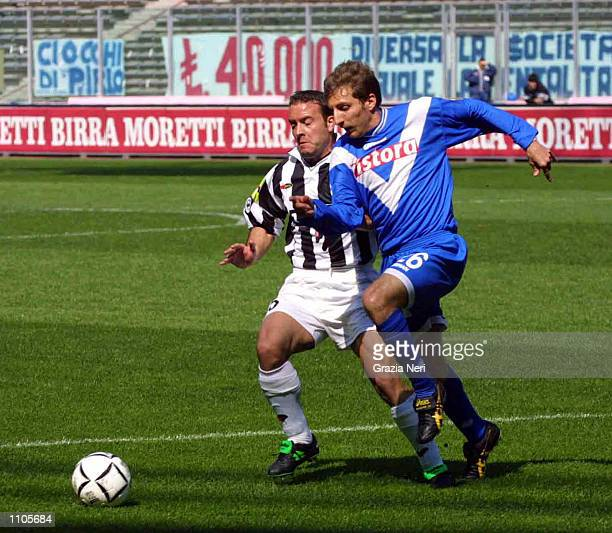 Alessandro Birindelli of Juventus and Jonathan Bachini of Brescia in action during the Serie A 24th Round League match between Juventus and Brescia...