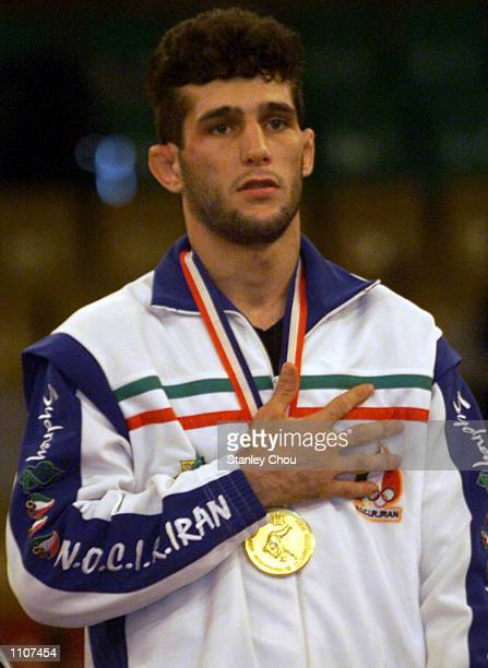 Arash Miresmaeili of Iran won the gold in the 66 kg category during the final day of the Asian Judo Championships at the National Wrestling Hall...