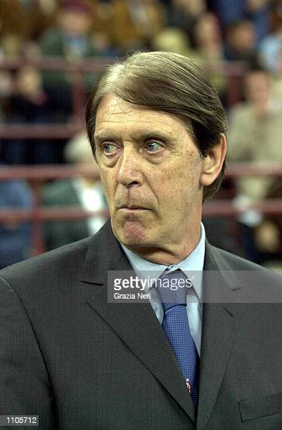 Cesare Maldini coach of AC Milan during the Serie A 24th Round League match between A AC Milan and Lazio played at the San Siro Stadium Milan DIGITAL...