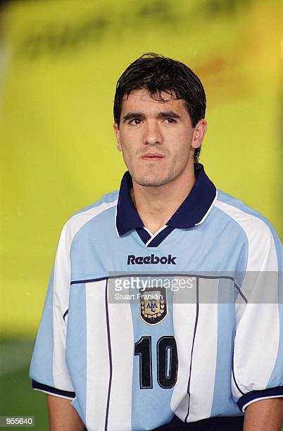 Portrait of Ariel Ortega before the FIFA World Cup Qualifier between Argentina and Venezuela played at the El Monumental stadium in Buenos Aires...