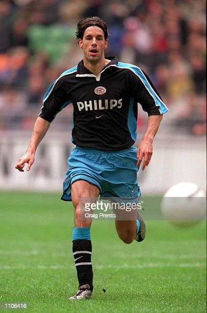 8 April 2001 Ruud Van Nistelrooy of PSV Eindhoven in action against Ajax during the league match between Ajax and PSV at the Amsterdam Arena the...