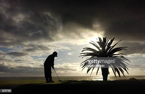 General view of a golfer putting during the first round of The Algarve Open De Portugal held at the Vale De Lobo Golf Club in Faro Portugal DIGITAL...