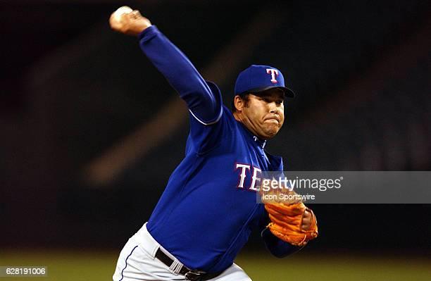 Hideki Irabu of the Texas Rangers during the Rangers 65 loss to the Anaheim Angels at Edison Field in Anaheim CA