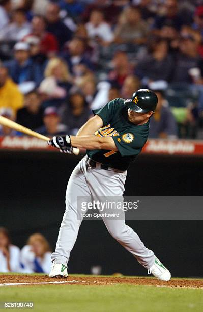 Jeremy Giambi of the Oakland A's during the A's 51 victory over the Anaheim Angels at Edison Field in Anaheim CA