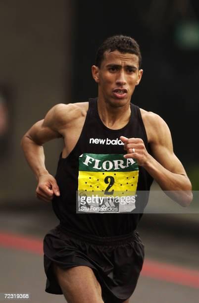Khalid Khannouchi of the United States during the Flora London Marathon in London England Mandatory Credit Stu Forster/Getty Images