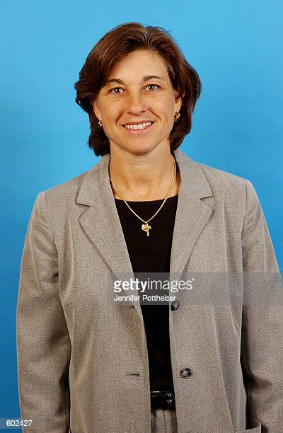 Senior Vice President and General Manager Carol Blazejowski of the New York Liberty poses for a portrait during WNBA Media Day 2002 in New York New...