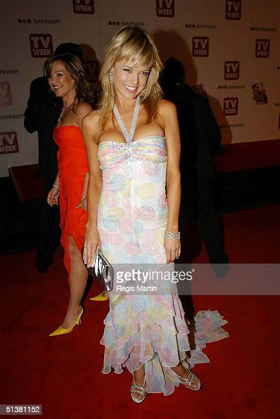 18 April 2004 AMY ERBACHER arrives on the red carpet for the 2004 TV Week Logie Awards At the Crown Casino Melbourne Victoria Australia