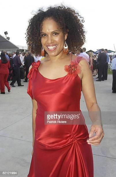 3 April 2004 Christine Anu at the Golden Slipper Racing Carnival held at Rosehill Gardens Racecourse Rosehill Sydney Australia