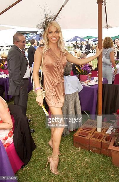 3 April 2004 Courtney Act at the Golden Slipper Racing Carnival held at Rosehill Gardens Racecourse Rosehill Sydney Australia