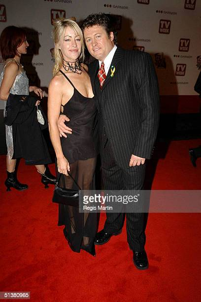 18 April 2004 DONNA FOWKES husband actor PETER PHELPS arriving on the red carpet for the 2004 TV Week Logie Awards At the Crown Casino Melbourne...