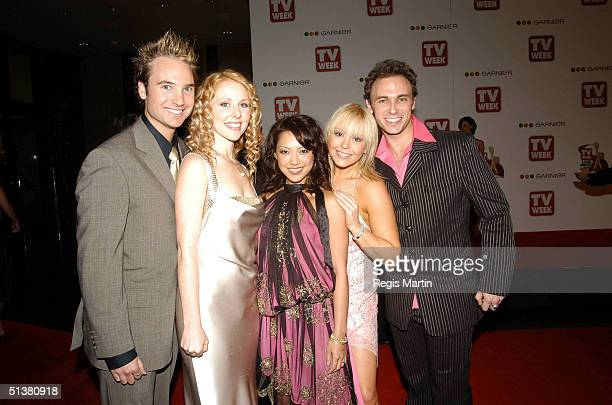 18 April 2004 HI 5 arriving on the red carpet for the 2004 TV Week Logie Awards At the Crown Casino Melbourne Victoria Australia
