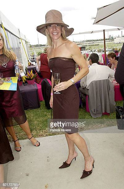 3 April 2004 Jane Flemming at the Golden Slipper Racing Carnival held at Rosehill Gardens Racecourse Rosehill Sydney Australia