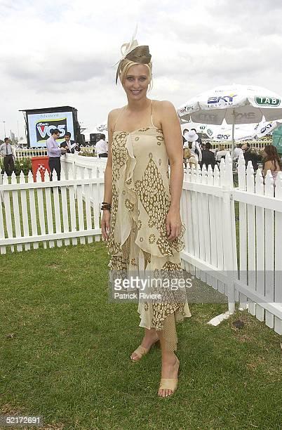 3 April 2004 Johanna Griggs at the Golden Slipper Racing Carnival held at Rosehill Gardens Racecourse Rosehill Sydney Australia