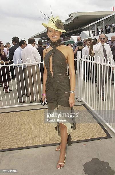 3 April 2004 Kate Waterhouse at the Golden Slipper Racing Carnival held at Rosehill Gardens Racecourse Rosehill Sydney Australia