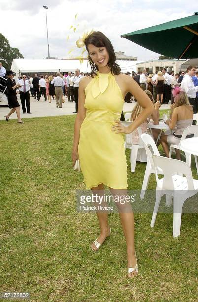 3 April 2004 Sara Groen at the Golden Slipper Racing Carnival held at Rosehill Gardens Racecourse Rosehill Sydney Australia