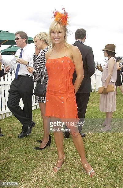 3 April 2004 Sonia Kruger at the Golden Slipper Racing Carnival held at Rosehill Gardens Racecourse Rosehill Sydney Australia