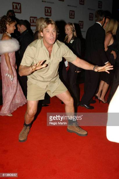 April 2004 - STEVE IRWIN arrives on the red carpet, for the 2004 TV Week Logie Awards. At the Crown Casino. Melbourne, Victoria, Australia.