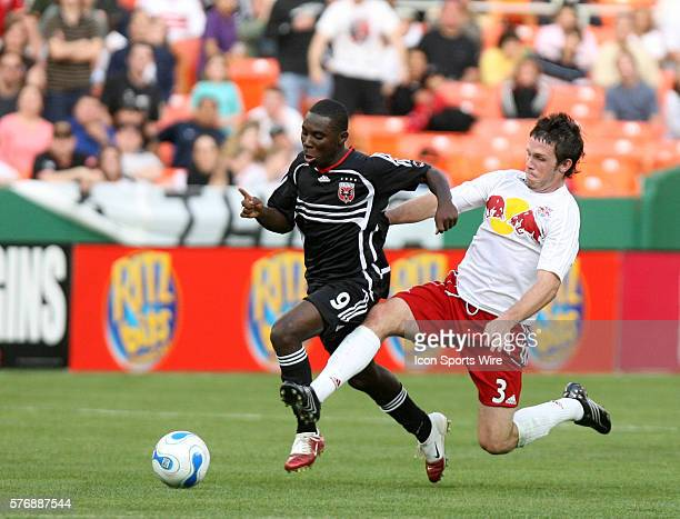 DC's Freddy Adu is fouled by New York's Danny O'Rourke Major League Soccer's DC United and New York Red Bulls tied 22 in an opening day Major League...