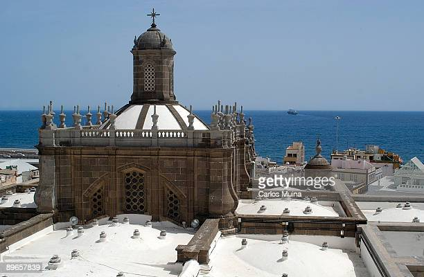 01 April 2006 Las Palmas de Gran Canarias Gran Canaria View of the upper part of Santa Ana Cathedral