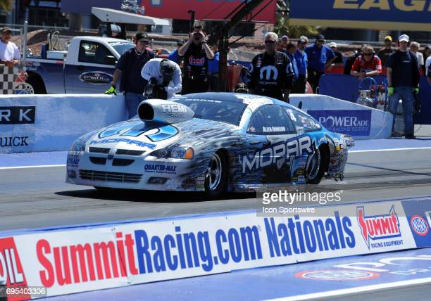 Allen Johnson Dodge Stratus NHRA Pro Stock during the SummitRacingcom Nationals Pro Stock Qualifying Round 1 on The Strip at the Las Vegas Motor...