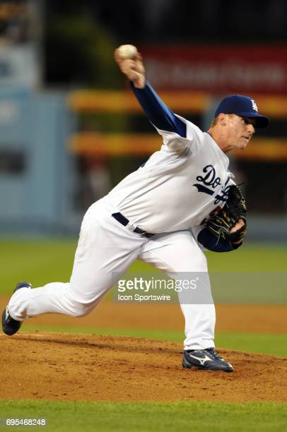 Los Angeles Dodgers Chad Billingsley during a Major League Baseball Game between the Los Angeles Dodgers and the Arizona Diamondbacks played at...