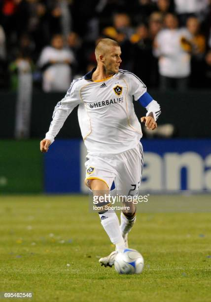 Los Angeles Galaxy David Beckham during a Major League Soccer game between the San Jose Earthquakes and the Los Angeles Galaxy played at the Home...