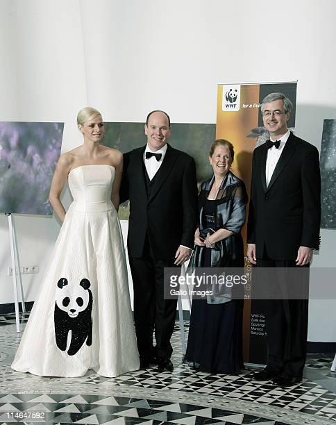5 April 2008 Monaco Miss Charlene Wittstock Prince Albert II of Monaco Mrs Suki Leape and her husband Mr James P Leape general Director of WWF...
