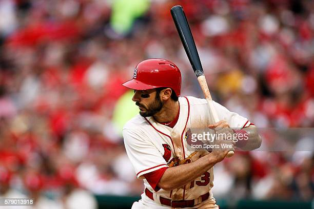 St Louis Cardinals third baseman Matt Carpenter at bat against the Pittsburgh Pirates at Busch Stadium in St Louis Missouri