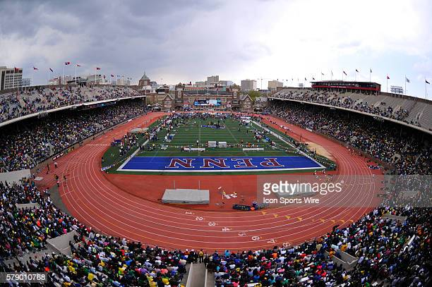 A general view of the Penn Relays at Franklin Field in Philadelphia Pennsylvania