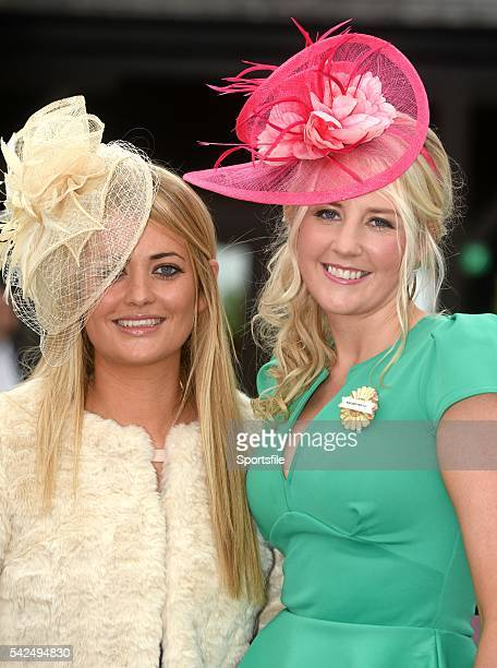 30 April 2014 Cathy Maher left and Linda Redmond both from Ballon CoCarlow enjoying a days at the races Punchestown Racecourse Punchestown Co Kildare...
