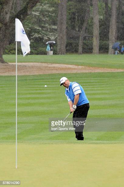 Dudley Hart before the delay of the very wet second round of the RBC Heritage presented by Boeing Golf Tournament from Harbour Town Golf Links on...