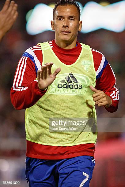 FC Dallas forward Blas Perez comes in as a substitution during the second half of the MLS soccer match between Toronto FC and FC Dallas at Toyota...