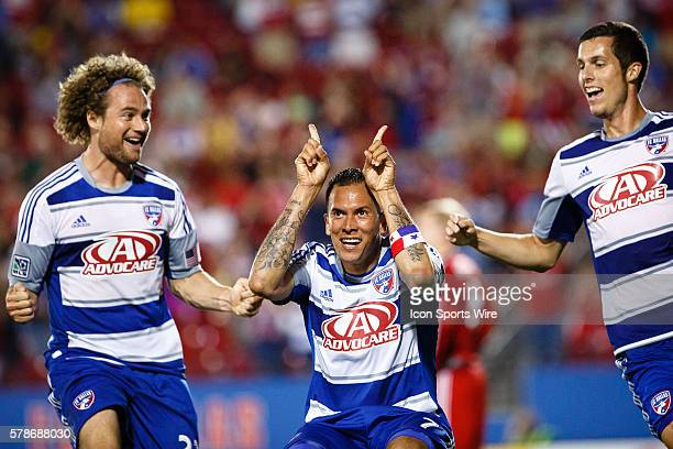 FC Dallas forward Blas Perez scores the game winning goal during the MLS soccer match between Toronto FC and FC Dallas at Toyota Stadium in Frisco TX...