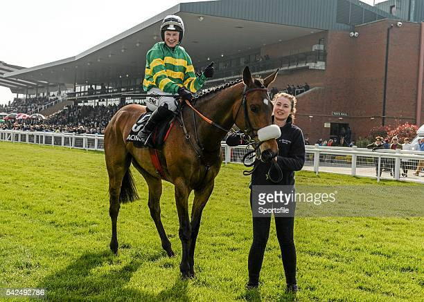 21 April 2014 Free Expression with Nina Carberry up after winning the Rathbarry Glenview Studs Handicap Hurdle Fairyhouse Easter Festival Fairyhouse...