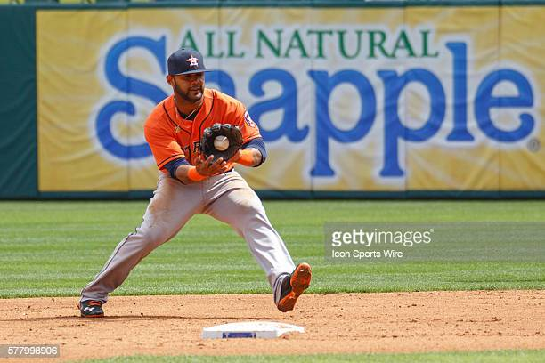 Houston Astros second baseman Jose Altuve in action during the MLB baseball game between the Texas Rangers and Houston Astros at the Globe Life Park...
