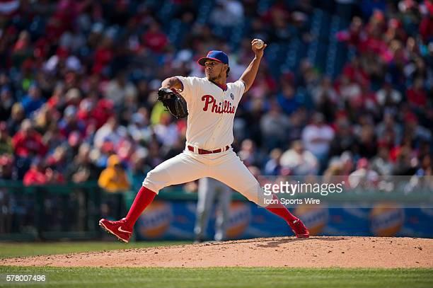 Philadelphia Phillies relief pitcher Antonio Bastardo takes over pitching duties during a Major League baseball game where the Philadelphia Phillies...