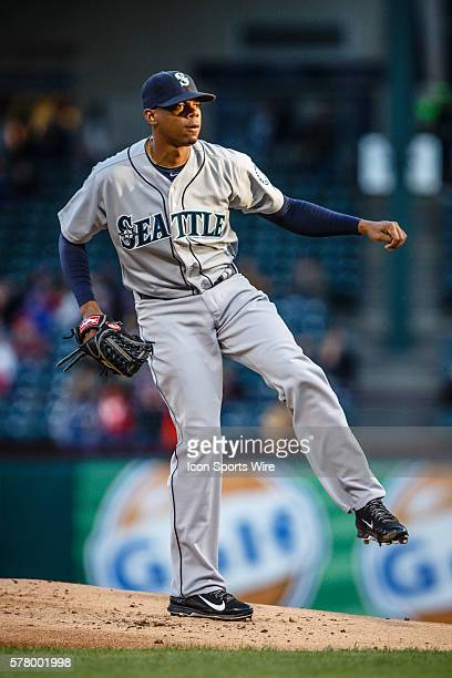Seattle Mariners Pitcher Roenis Elias [3886] in action during the MLB baseball game between the Texas Rangers and Seattle Mariners at the Globe Life...