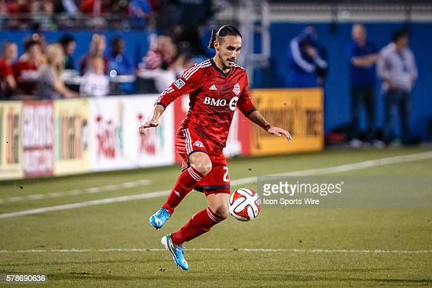 Toronto FC midfielder Issey NakajimaFarran in action during the MLS soccer match between Toronto FC and FC Dallas at Toyota Stadium in Frisco TX