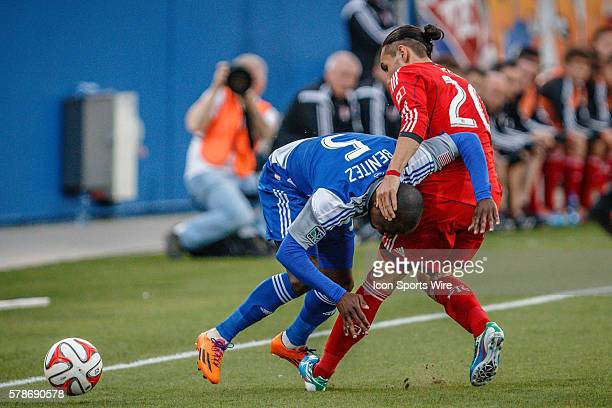 Toronto FC midfielder Issey NakajimaFarran is called for a foul on FC Dallas defender Jair Benitez during the MLS soccer match between Toronto FC and...