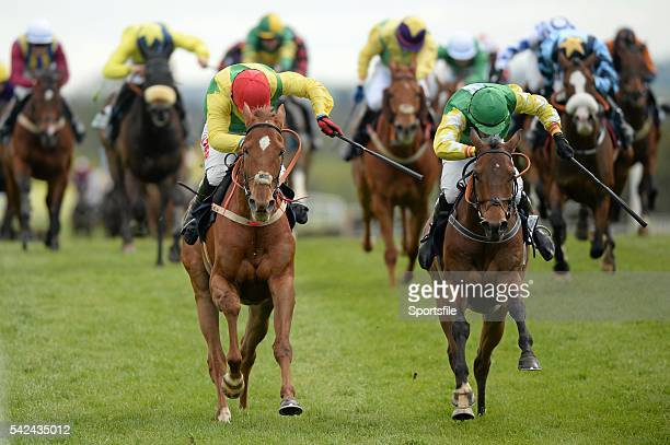 30 April 2015 Bog War right with David Mullins up races A Sizing Network with JJ Burke up who finished second on their way to winning the Murray...