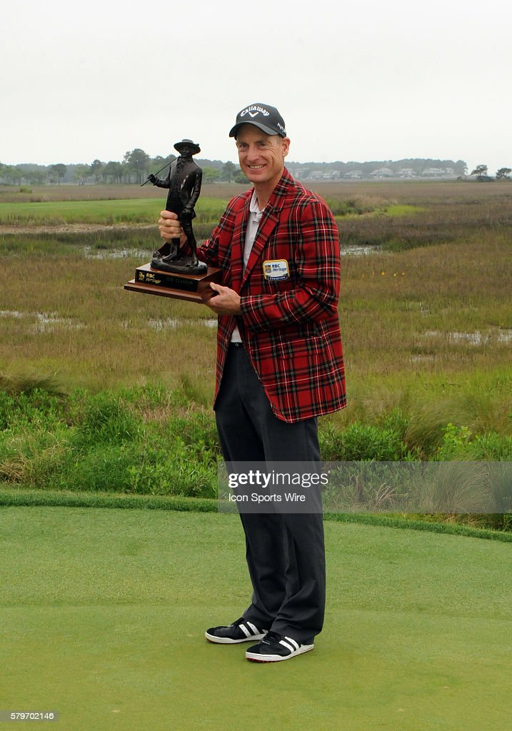 Golf apr 19 pga rbc heritage final round pictures getty images jim furyk during the awards ceremony after winning the tournament during the final round of the publicscrutiny Images