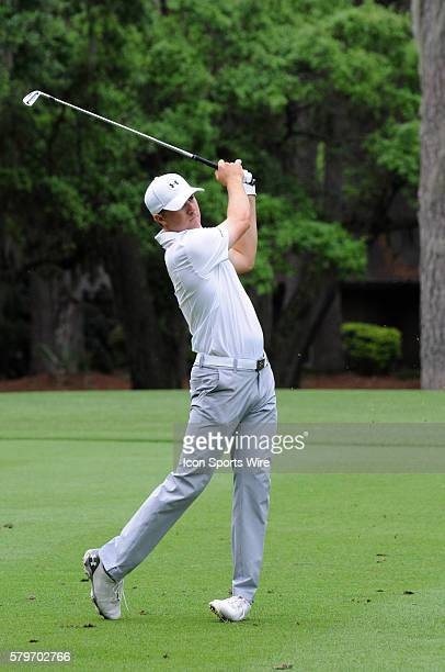 Jordan Spieth during the final round of the RBC Heritage Presented by Boeing golf tournament at Harbour Town Golf Links in Hilton Head Island SC