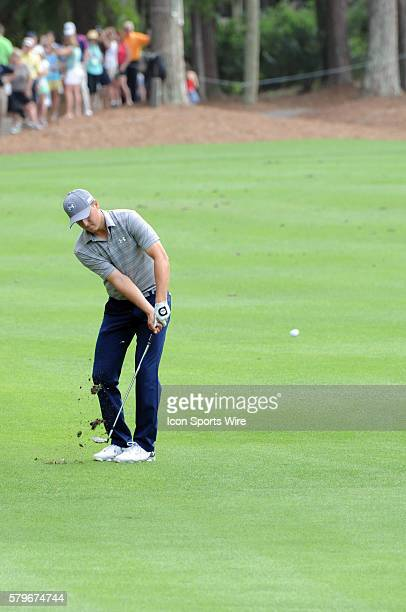 Jordan Spieth during the third round of the RBC Heritage Presented by Boeing golf Tournament at Harbour Town Golf Links in Hilton Head Island SC