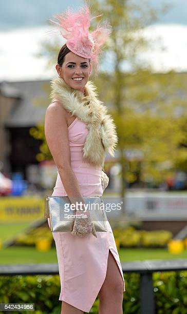 30 April 2015 Racegoer Rachel O'Connor from Ardagh Co Limerick at Punchestown Racecourse Punchestown Co Kildare Picture credit Matt Browne /...